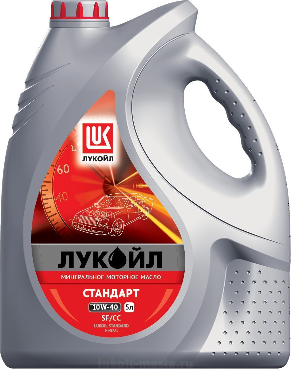 Моторное масло Масло моторное ЛУКОЙЛ СТАНДАРТ 10W-40, SF/CC, 5 л фото