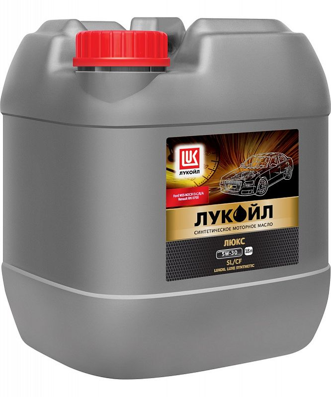 Масло моторное LUKOIL LUXE, SYNTHETIC SAE 5W-30, API SL/CF, 18 л